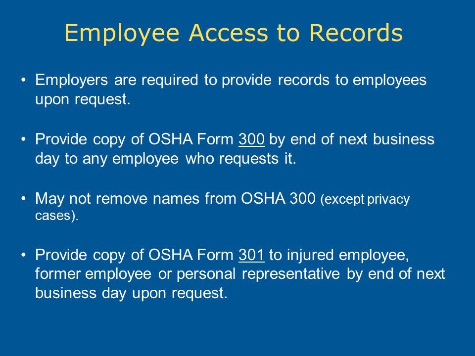 InjuryIllness Recording Reporting OSHA 300 Recordkeeping – Osha 300 Form