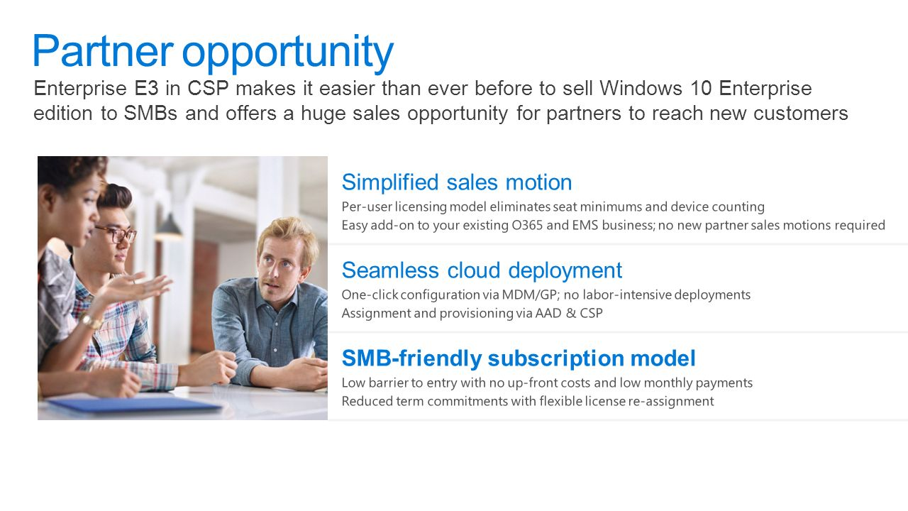 Introducing windows 10 enterprise e3 for csp a better way for smbs 4 enterprise e3 ccuart Choice Image