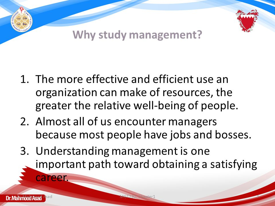 Why study management.