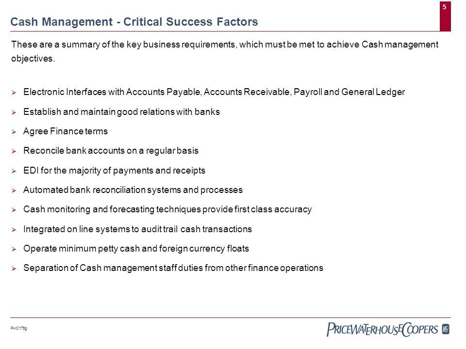 cash management summary