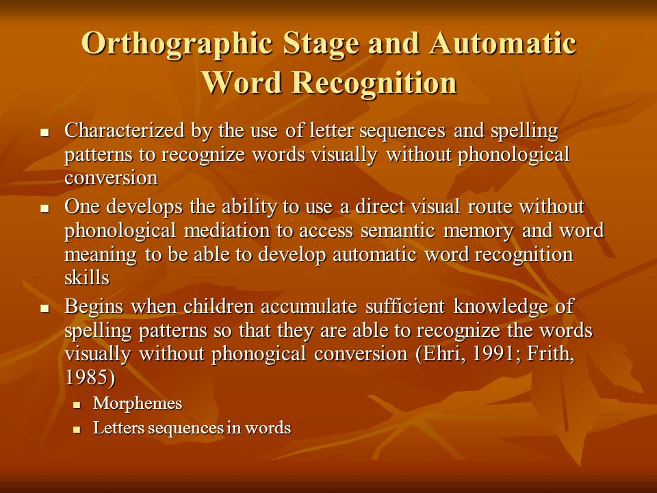 word length effects in visual word recognition We found that longer latencies to longer letter strings characterised the processing of the initial letters of words while lh word recognition features characterised the ends of words experiment 2 was a lateralized version of experiment 1, and revealed the well established visual field and word length interaction.