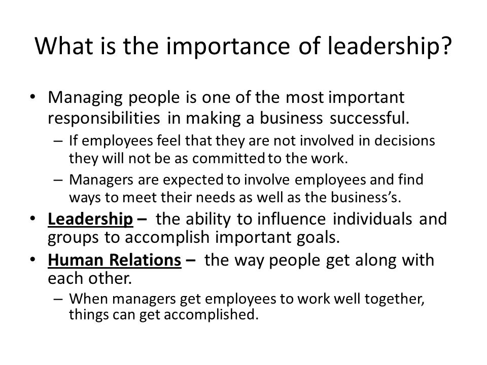 What are leadership characteristics.