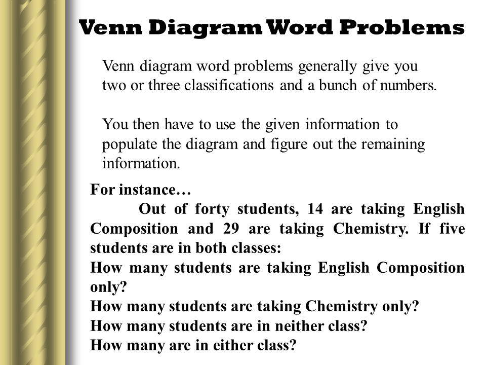 Venn Diagram Word Problems With Solutions Vaydileforic
