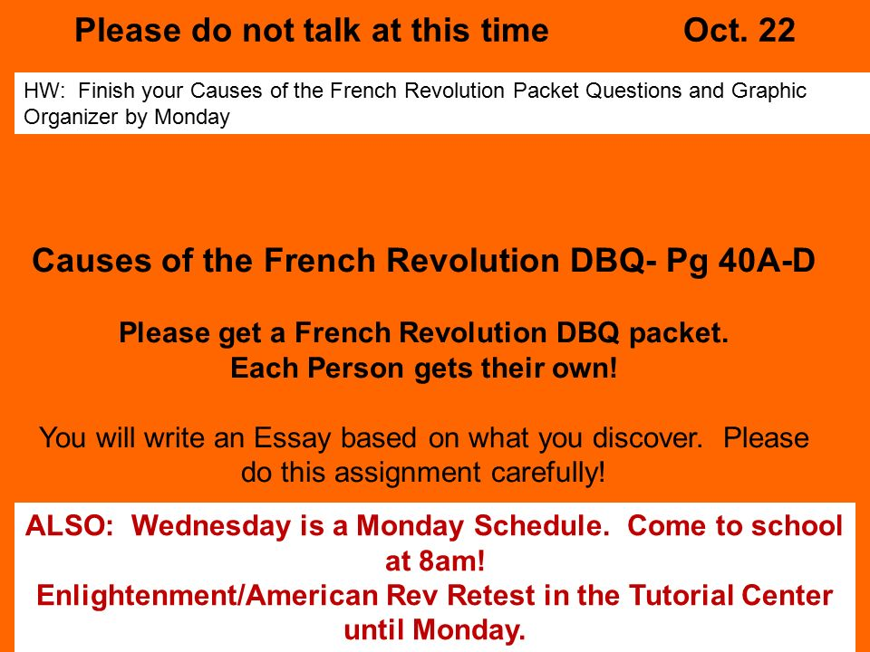 french revolution 8 essay