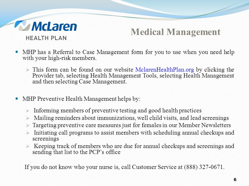 Medicaid Health Plan Mhp Transportation Michigan · PreNotification And  Authorization For Services McLaren