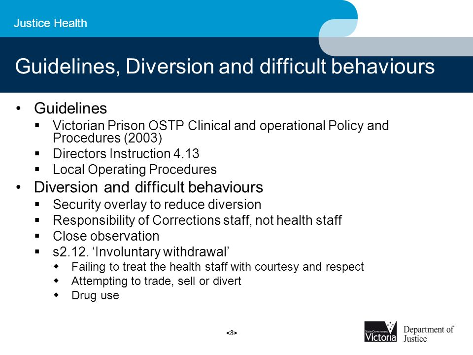 prison health guidelines