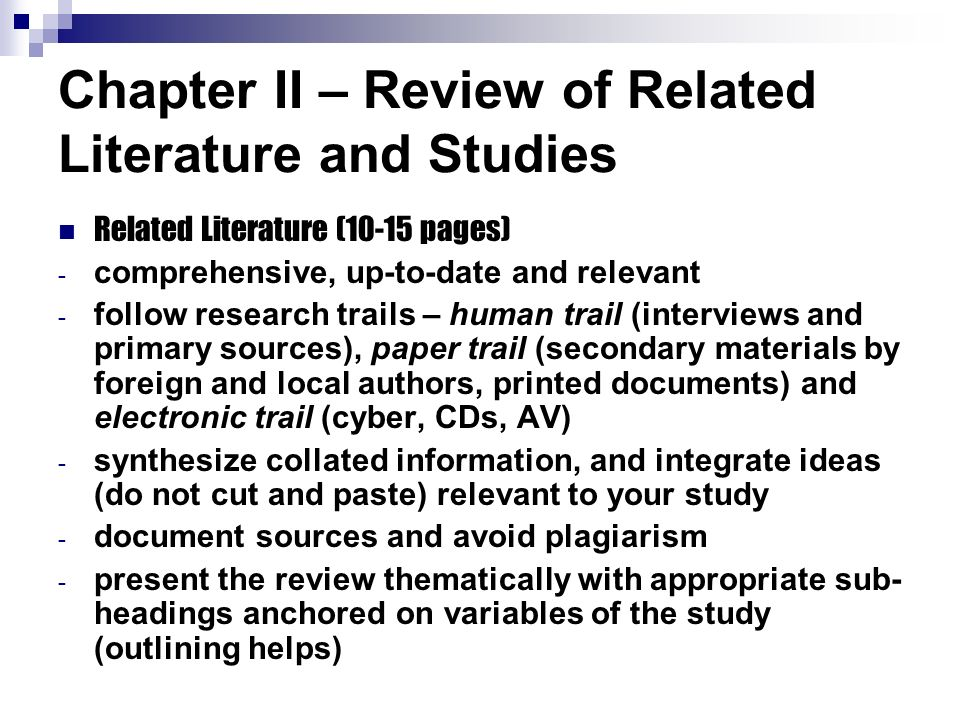 review of realated literature and studies