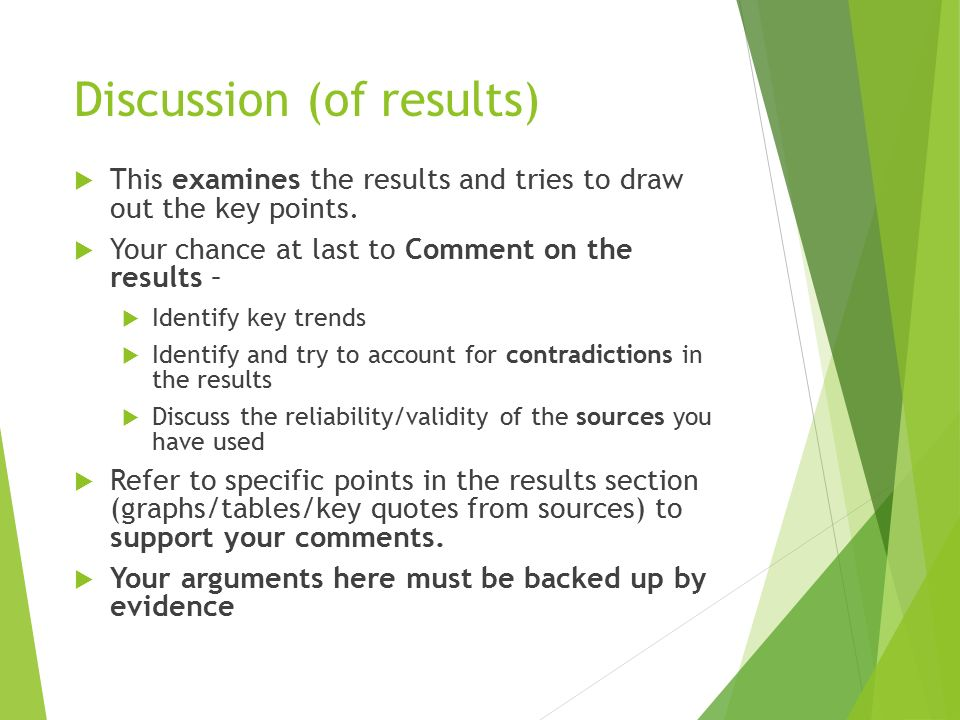 dissertation discussion of results 5 writing up results 6 writing a discussion writing a discussion the discussion section of your dissertation is one of the most important parts of a.