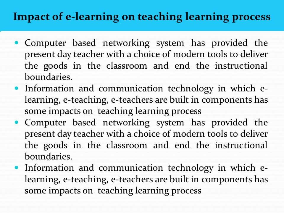 impact of technology on teaching In this rapidly changing world, education too cannot escape the impact of technology technology has changed the face of education today.