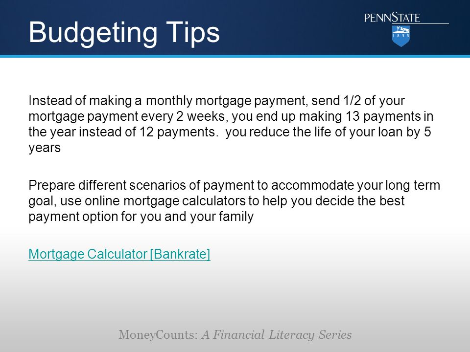 Moneycounts A Financial Literacy Series Mortgages The Financial