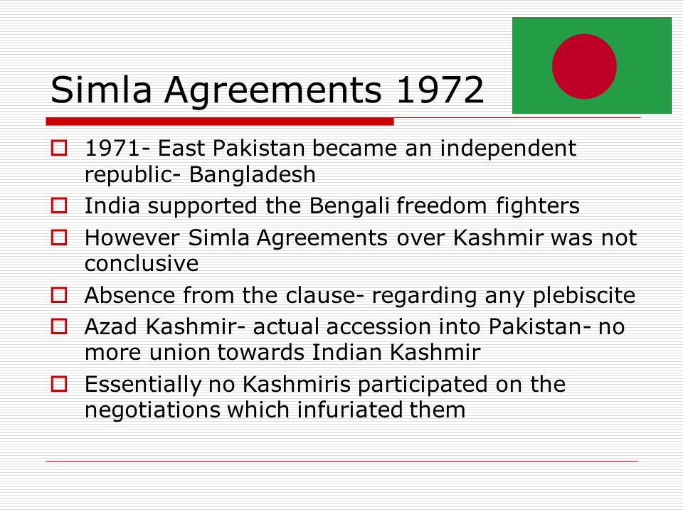Conflict and cooperation consequences of the indo pakistani war 14 simla agreements platinumwayz