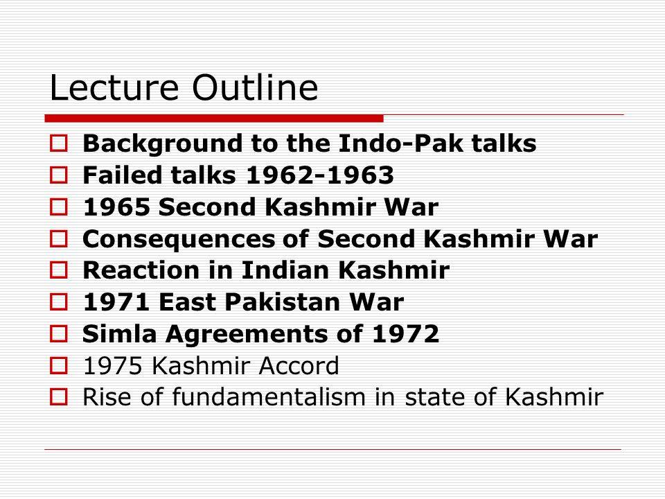 Conflict and cooperation consequences of the indo pakistani war 5 lecture platinumwayz