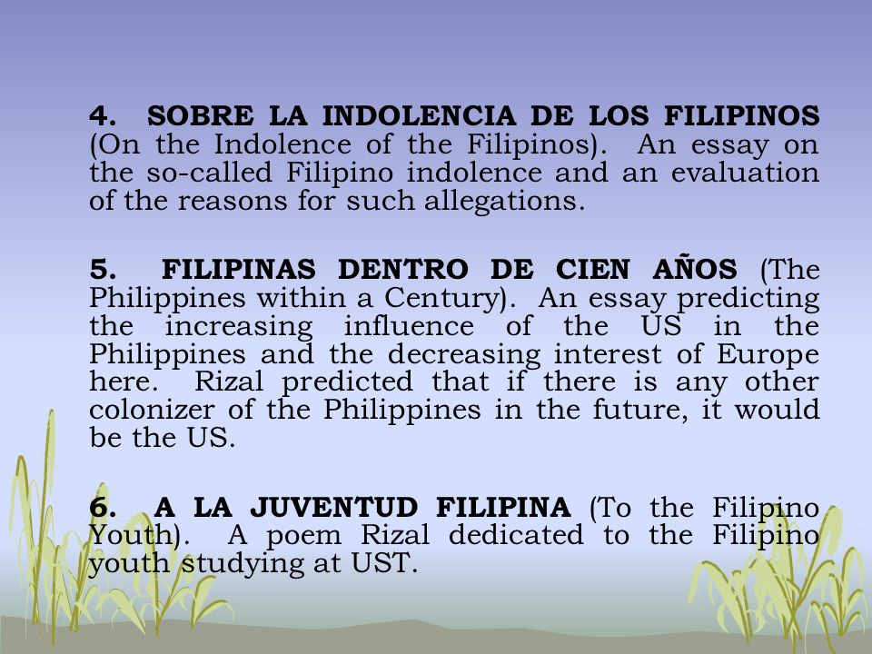 influences on philippine literature Period of the third republic literary compositions that influenced the world the state of philippine literature in english at this time.