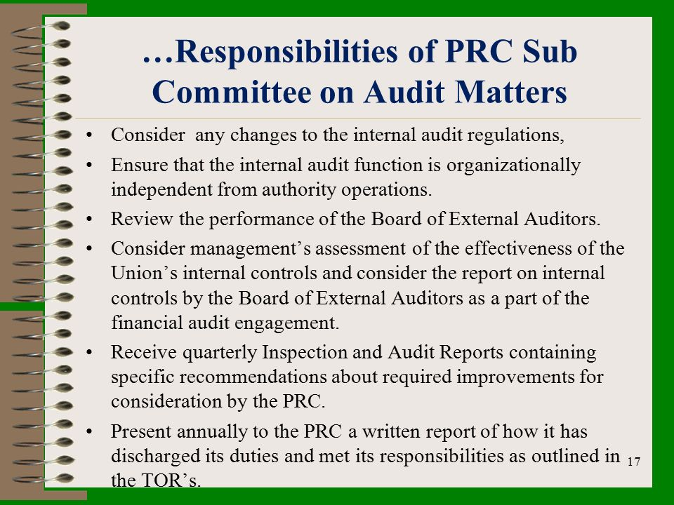internal audit and the relationship with
