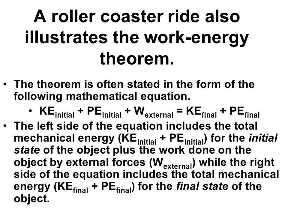 Class notes Personal Horsepower Lab Quiz tomorrow HW 195 100 – Work Energy Theorem Worksheet