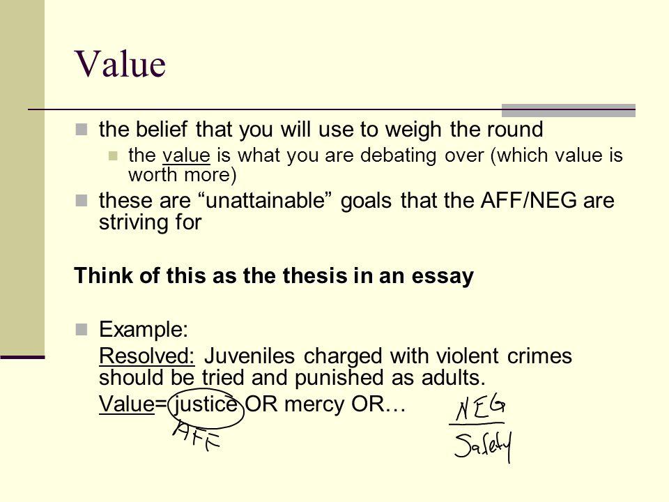 debate terminology week debate ms haen resolution also known  6 value