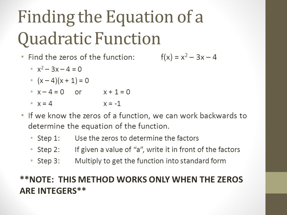 The Quadratic Formula Objective: To Solve Quadratic Equations ...