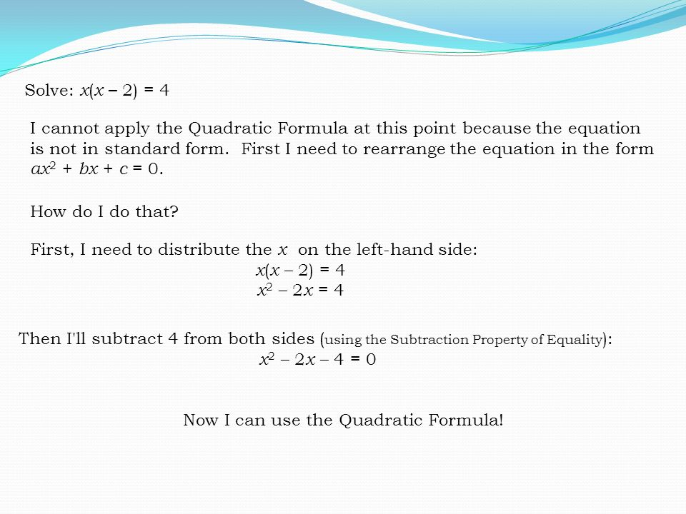 Rearrange This Expression Into Quadratic Form Honghankk