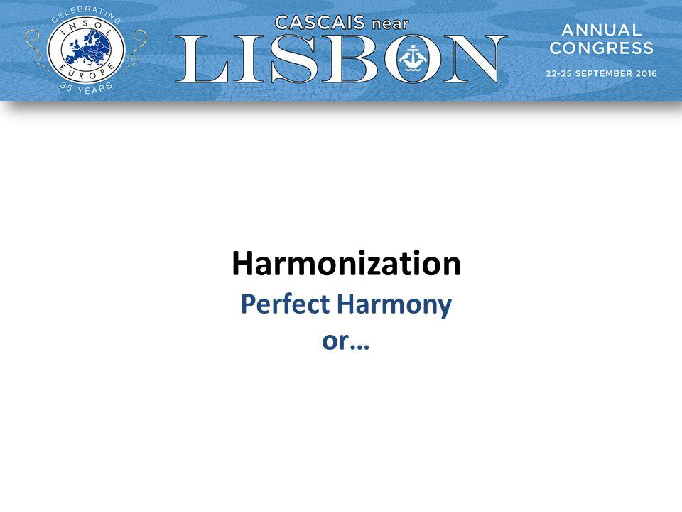 Harmonization Perfect Harmony or…