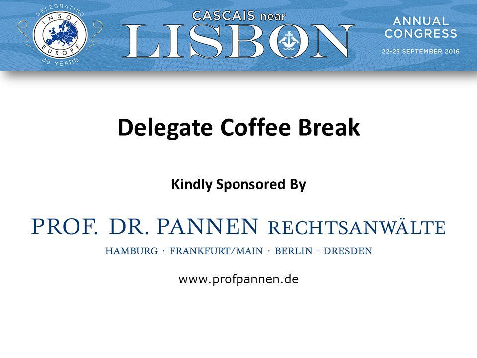 Delegate Coffee Break Kindly Sponsored By www.profpannen.de
