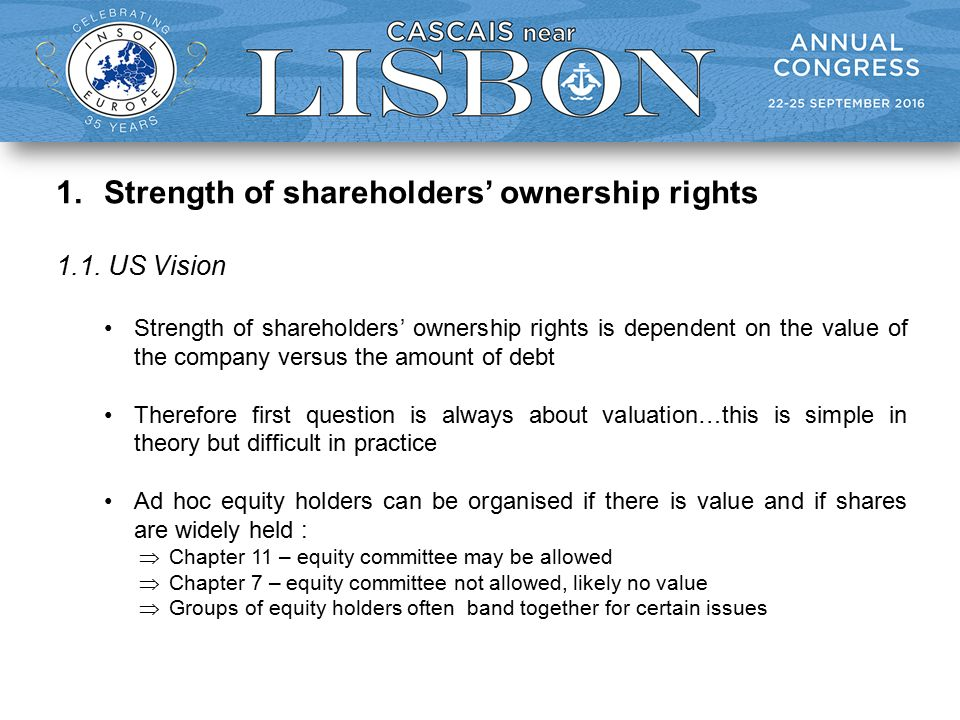 1.Strength of shareholders' ownership rights 1.1.