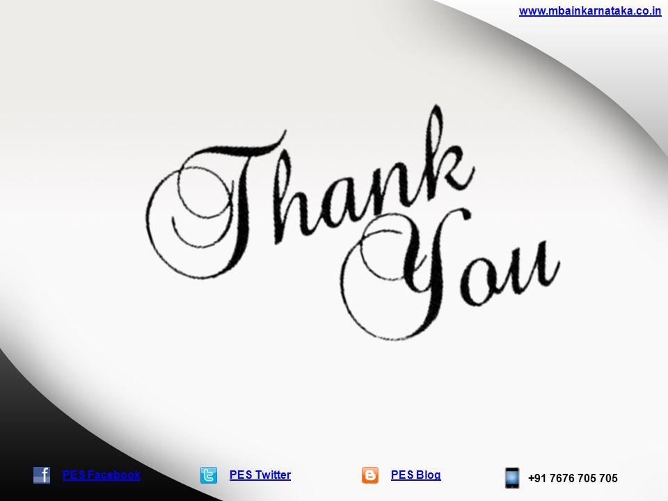 PES TwitterPES Blog +91 7676 705 705 www.mbainkarnataka.co.in PES Facebook