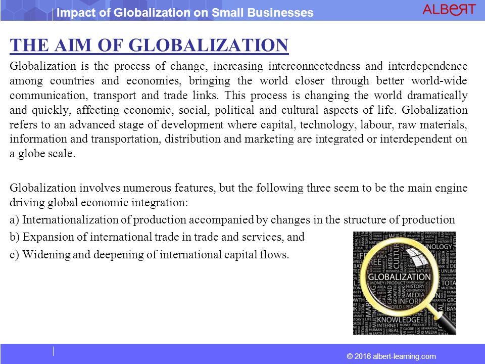 Economic Drivers Which Might Impact Globalization