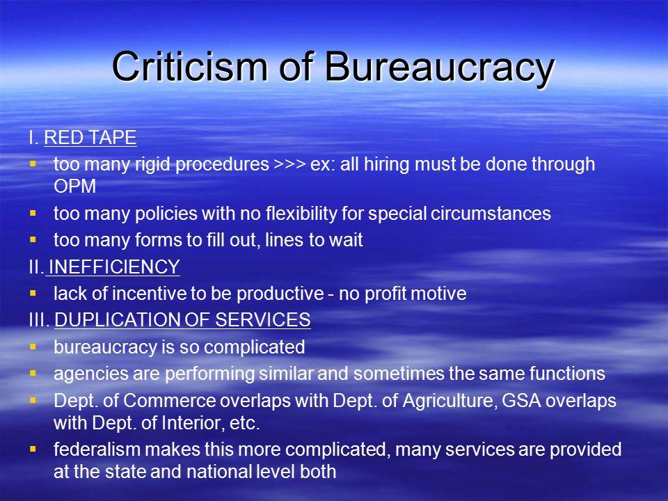 Unit 7 Chapter 10: Federal Bureaucracy Section 1 Bureaucratic ...