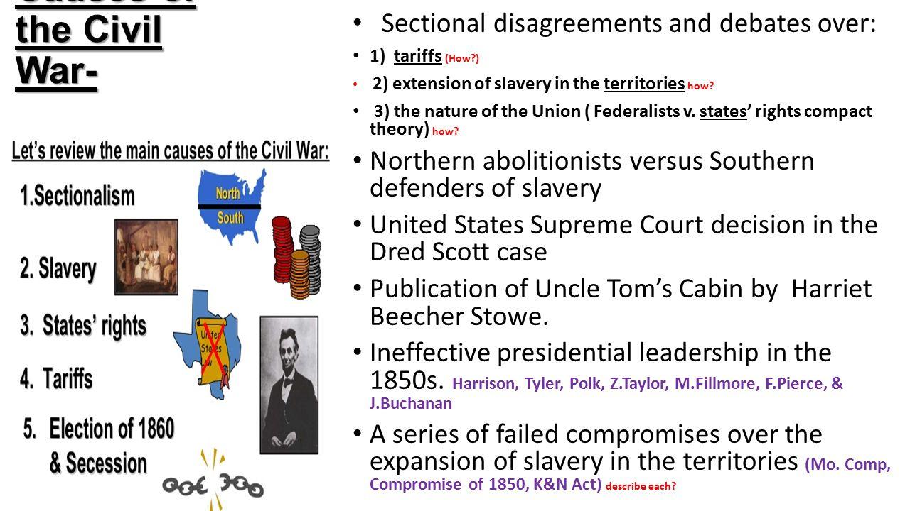 dbq causes of the civil war