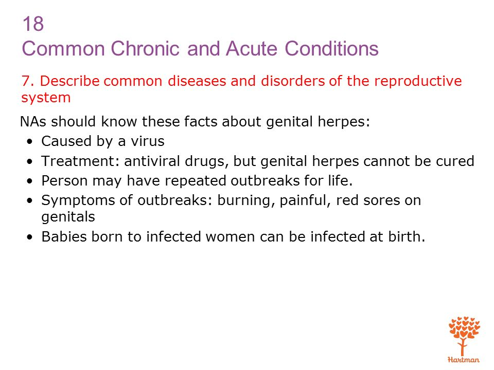 18 Common Chronic and Acute Conditions 7.