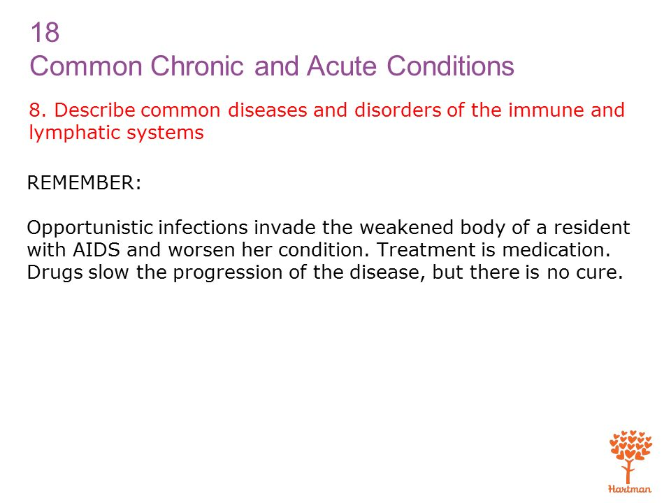 18 Common Chronic and Acute Conditions 8.