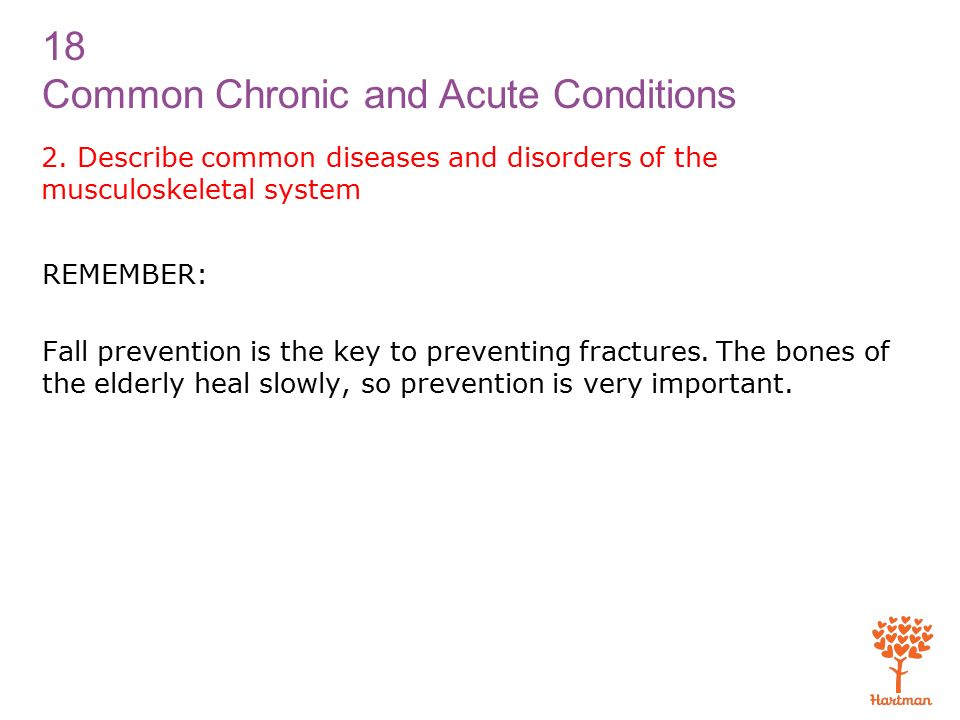 18 Common Chronic and Acute Conditions 2.