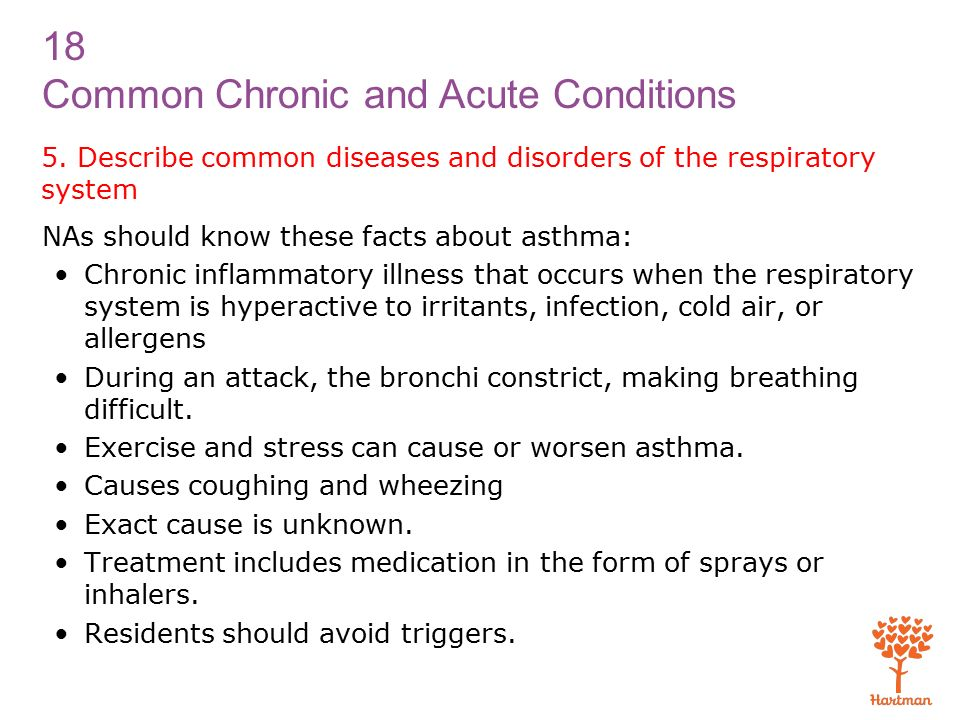 18 Common Chronic and Acute Conditions 5.