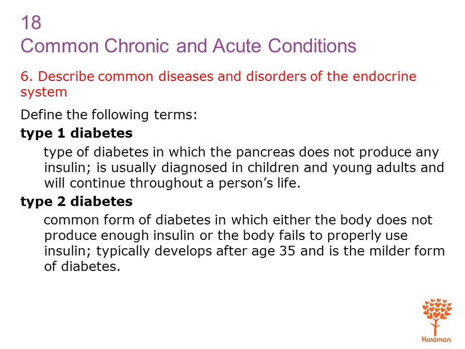 18 Common Chronic and Acute Conditions 6.