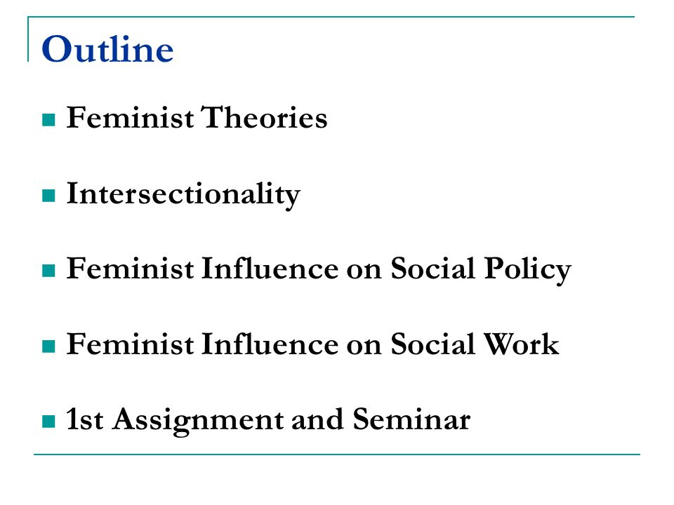 femenist theory : basic principles of feminist theory.
