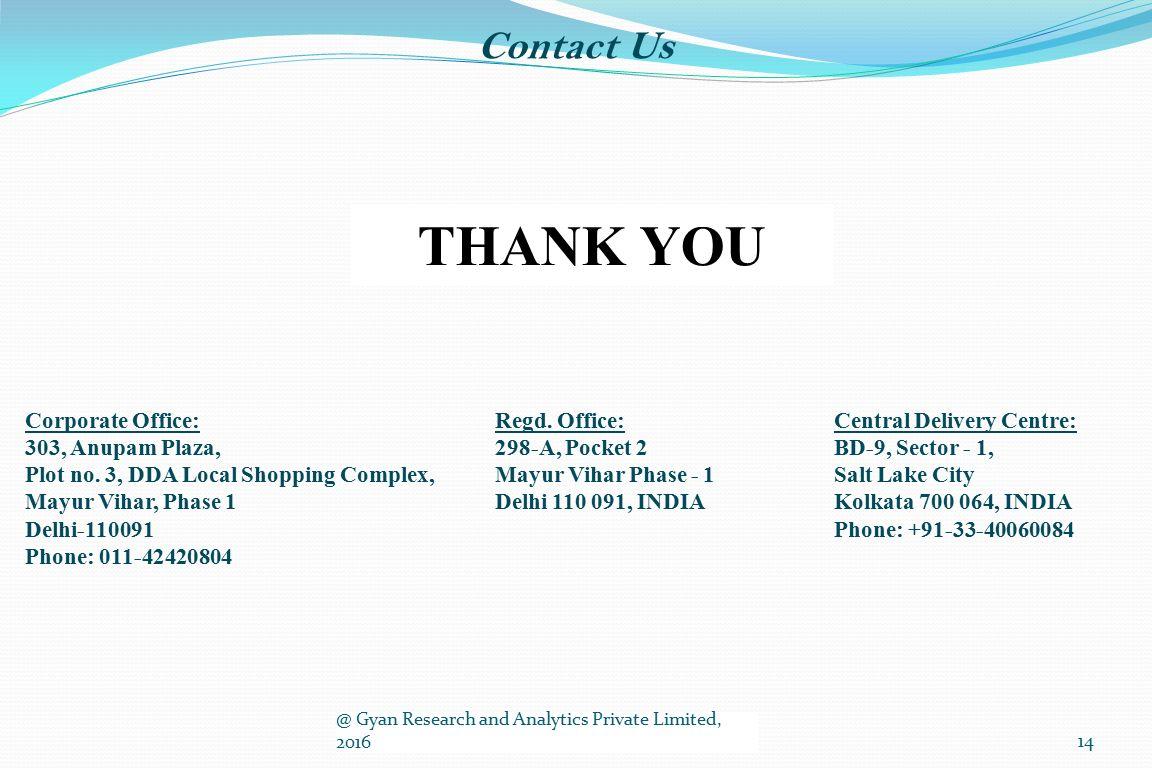 Contact Us THANK YOU Corporate Office: 303, Anupam Plaza, Plot no.