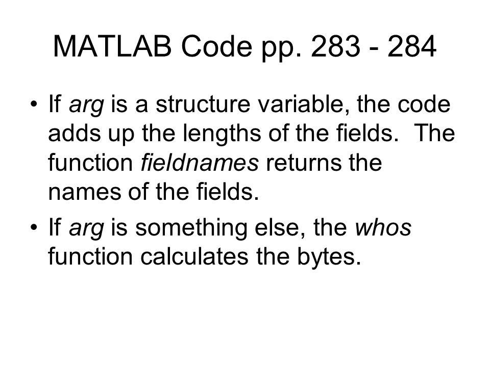 MATLAB Code pp.