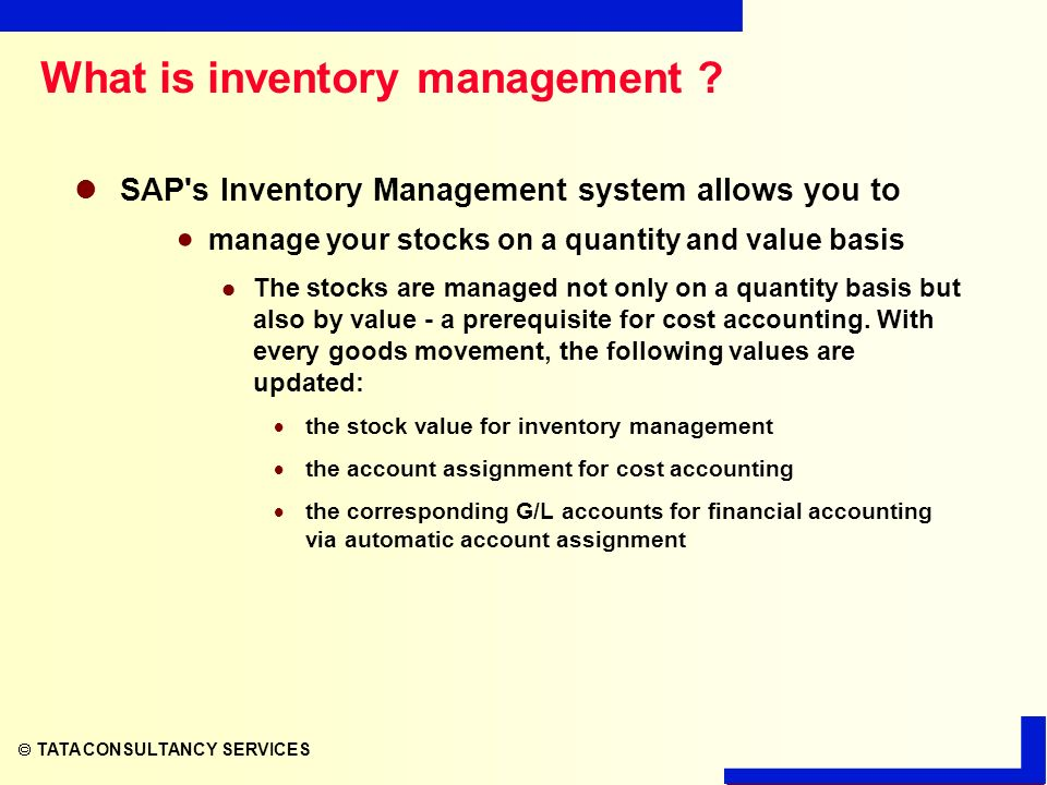 stock movements sap