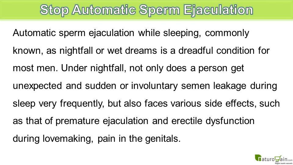 Sperm production wet dreams