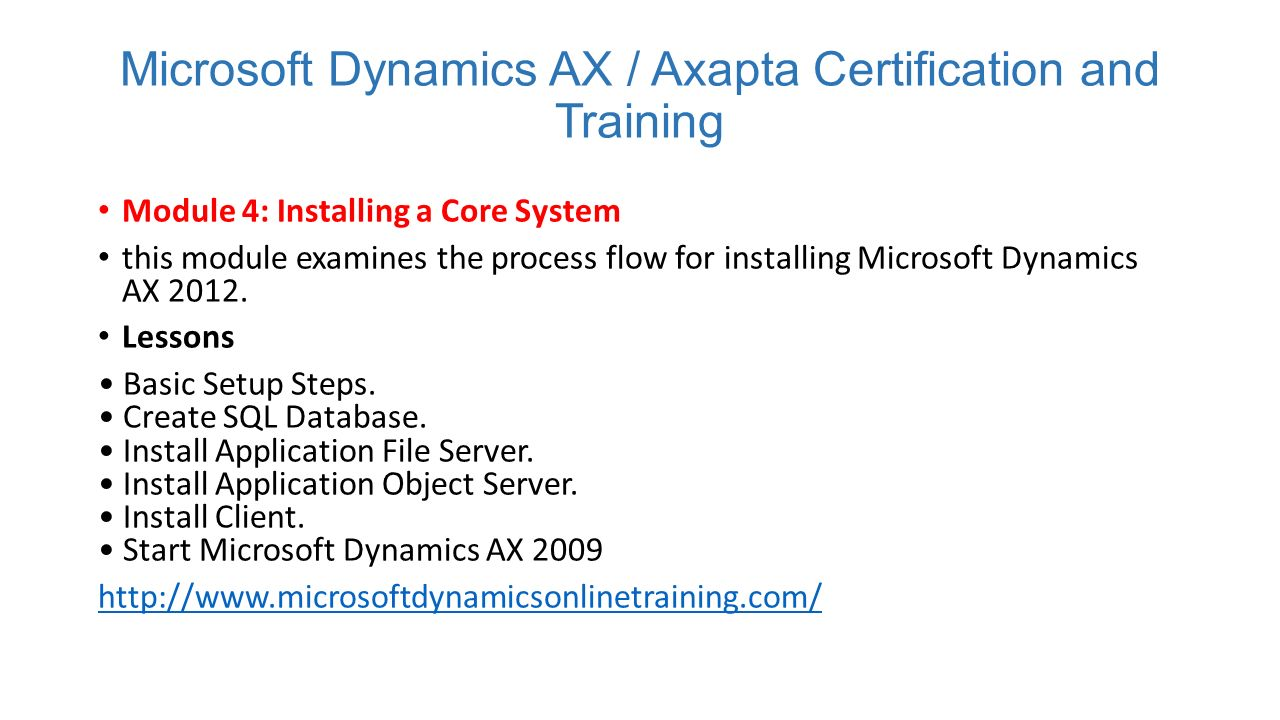 Microsoft dynamics axapta training institute contact us magnific 5 microsoft dynamics ax axapta certification 1betcityfo Gallery