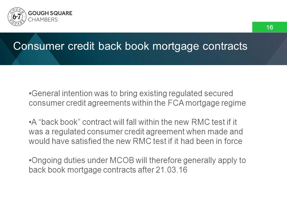 Mortgage Credit Directive Conference Mortgage Credit Directive