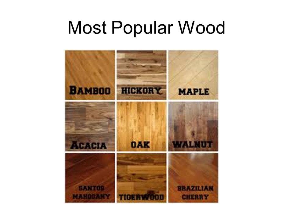 4 Most Popular Wood