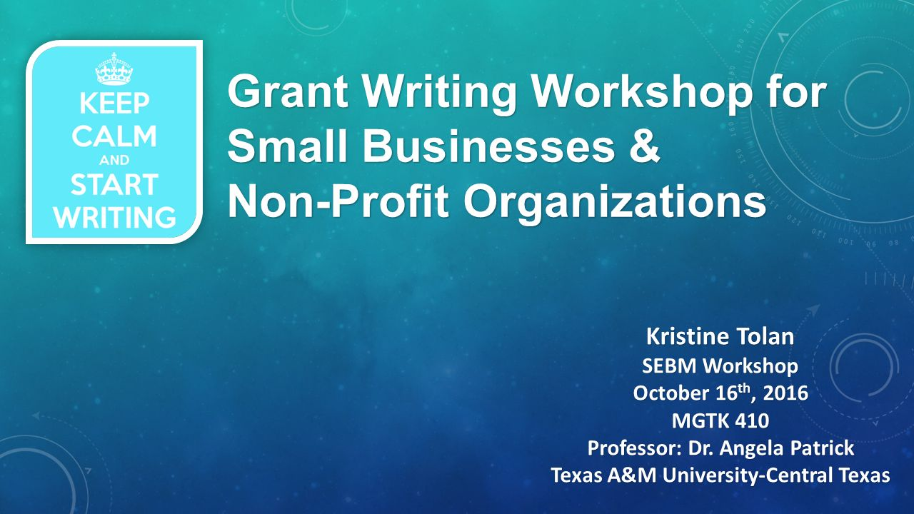 grant writing for small business