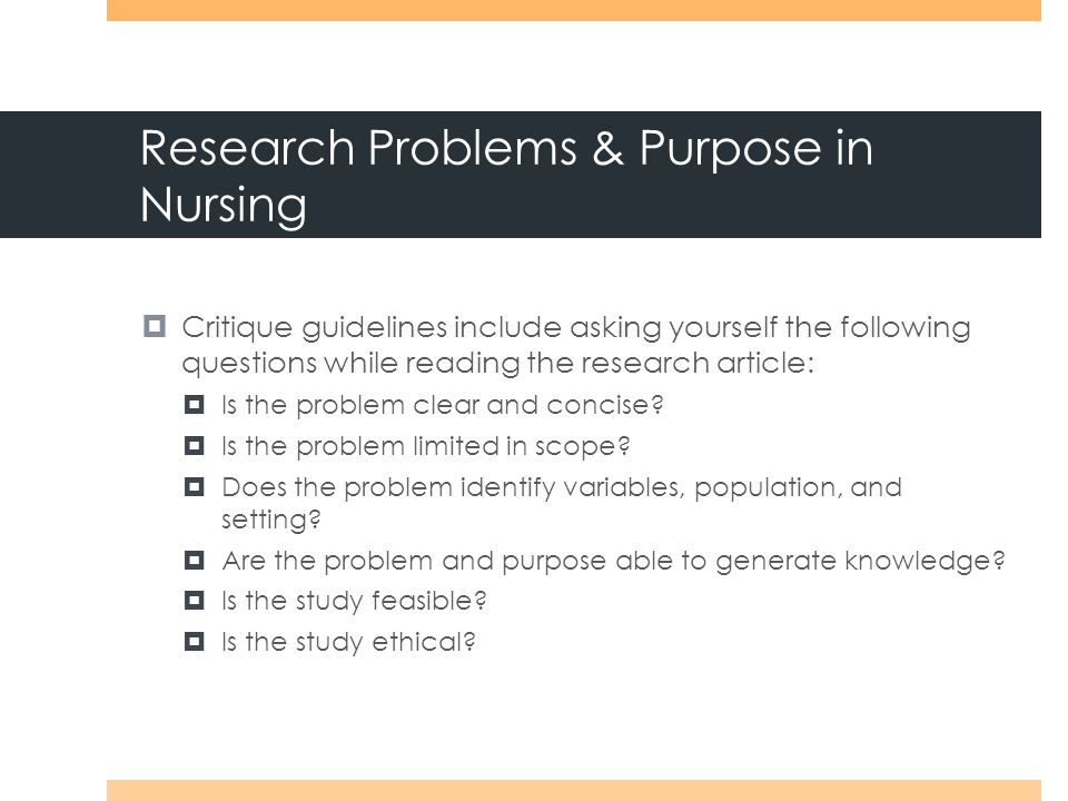 critique nursing Learn about the ana research toolkit providing login access to a research repository to help nurses provide quality health outcomes.