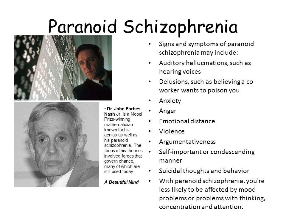essays beautiful mind paranoid schizophrenia Schizophrenia and its portrayal in a transcript of schizophrenia and its portrayal in a beautiful mind the onset of schizophrenia, the symptoms of paranoid.