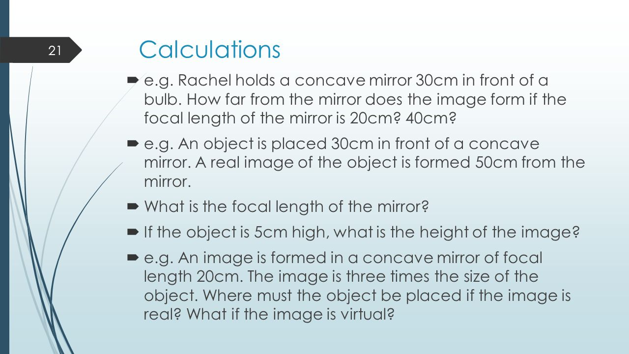 Spherical Mirrors – Learning Outcomes  Recognise and use key ...