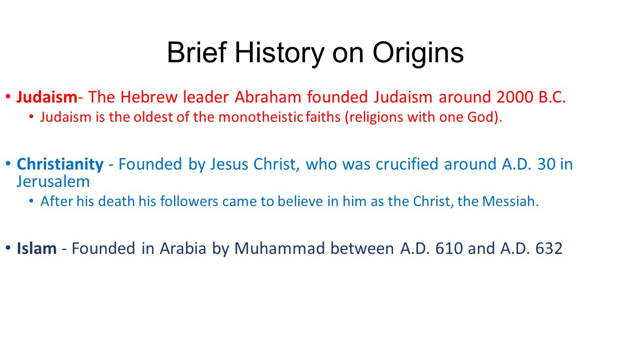 common attributes of monotheistic religions of the middle east