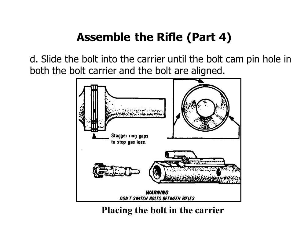 Assemble the Rifle (Part 4) d.