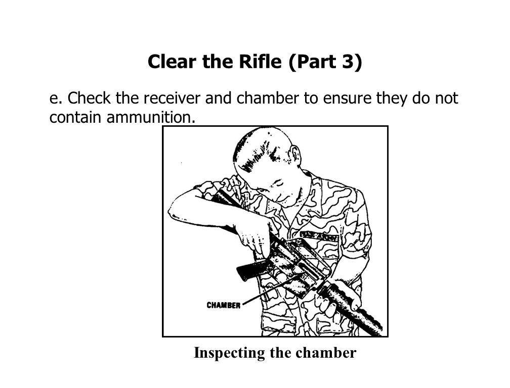 Clear the Rifle (Part 3) e.