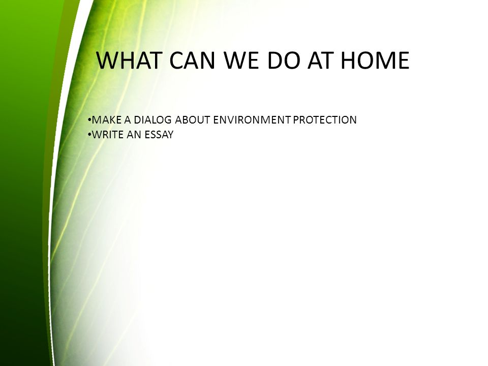essay of protect environment